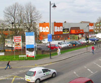 London, Leyton, Lea Bridge Road, Heybridge Way, B&Q (E10 7BQ)
